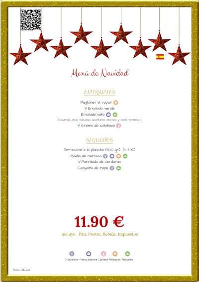 carta de menú de restaurante rentable