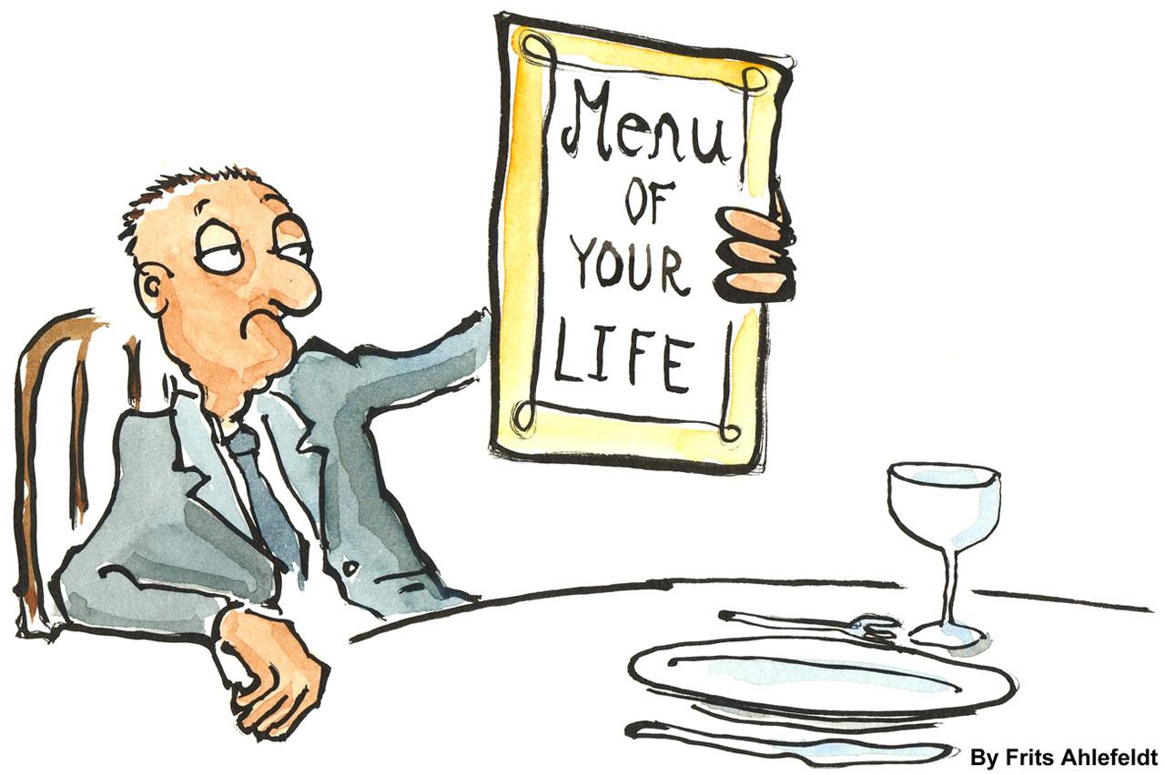 El beneficio de la carta del restaurante online
